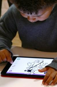 Coloriage sur l'appli iPad Badabim