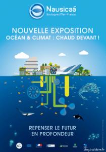 Nouvelle-Exposition-Ocean-et-Climat-chaud-devant-Affiche-contenu