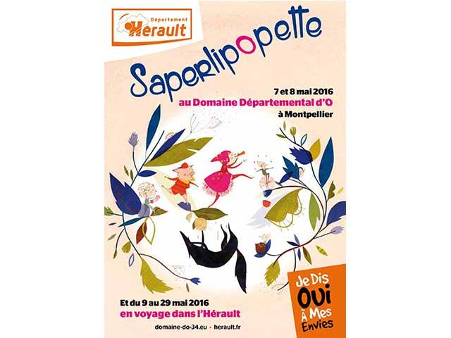 Affiche du festival Saperlipopette
